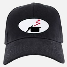 Cooking pot red hearts Baseball Hat