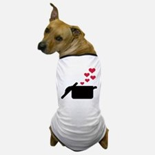 Cooking pot red hearts Dog T-Shirt