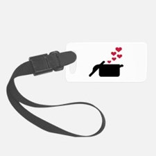 Cooking pot red hearts Luggage Tag