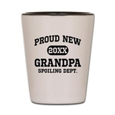 Proud New Grandpa Personalized Shot Glass