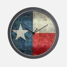 Texas state flag vintage retro style Sq Wall Clock