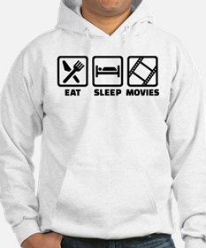 Eat sleep Movies Hoodie