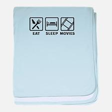 Eat sleep Movies baby blanket