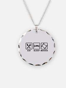 Eat sleep Movies Necklace