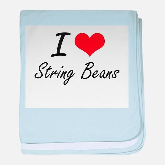 I love String Beans baby blanket