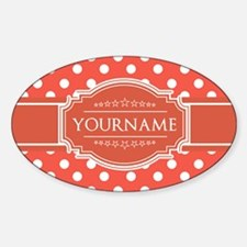 Rusty Red Polkadots Personalized Decal