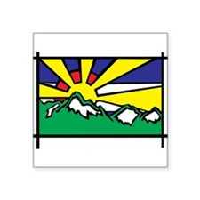 "Unique Mountains Square Sticker 3"" x 3"""