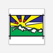 "Unique Mountains Square Sticker 3"" x 3"""