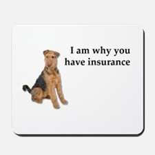Insurance Airedale Mousepad