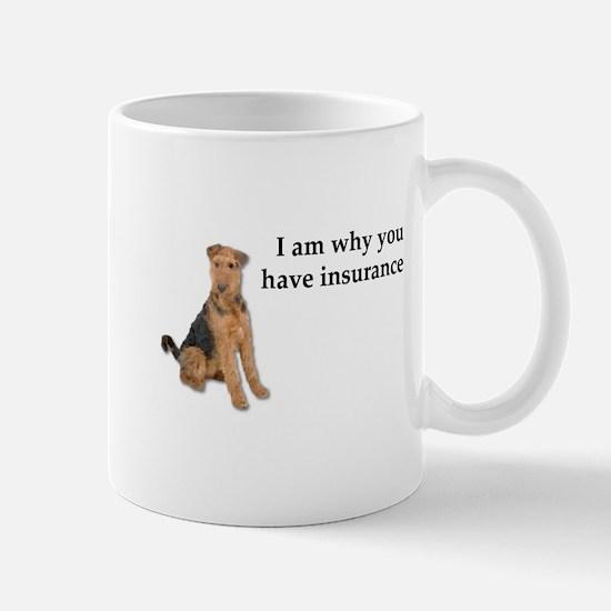 Insurance Airedale Mugs