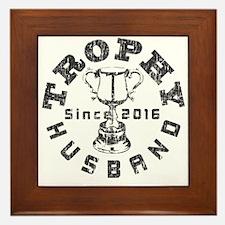 Trophy Husbad Since 2016 Framed Tile