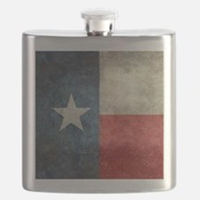 Texas state flag vintage retro style big ble Flask