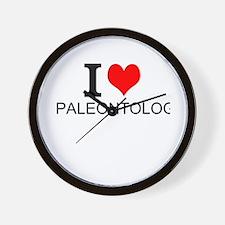 I Love Paleontology Wall Clock