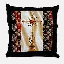 Harvest Moons Renaissance Crosss Throw Pillow