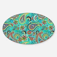 Colorful Vintage Paisley Decal