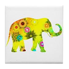 Cute Elephants Tile Coaster
