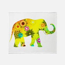 Unique Elephants Throw Blanket