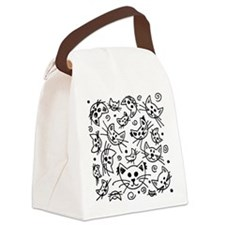 Doodle Cats Canvas Lunch Bag