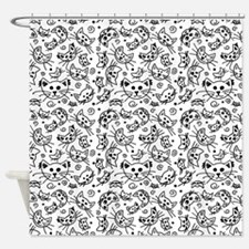 Doodle Cats Shower Curtain