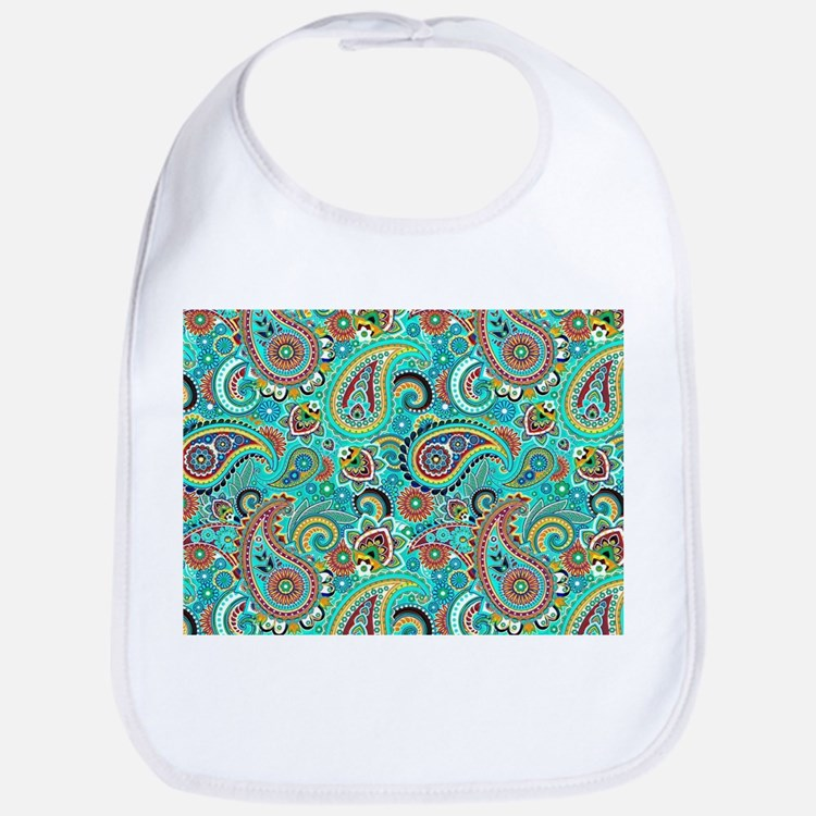 Colorful Vintage Paisley Bib