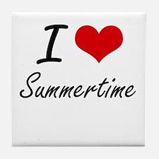 I love Summertime Tile Coaster