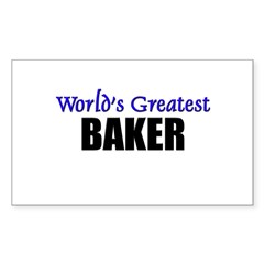 Worlds Greatest BAKER Rectangle Decal