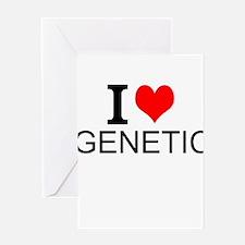I Love Genetics Greeting Cards