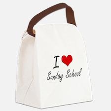I love Sunday School Canvas Lunch Bag