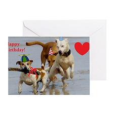 happy birthday dogs Greeting Card