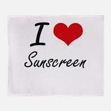 I love Sunscreen Throw Blanket