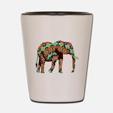 Cute Blue elephant Shot Glass