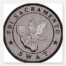 """FBI Sacramento SWAT Square Car Magnet 3"""" x 3"""""""