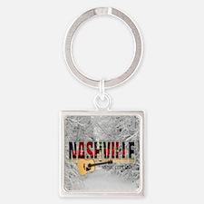 Nashville Music City-CO1 Square Keychain