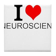 I Love Neuroscience Tile Coaster