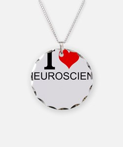 I Love Neuroscience Necklace