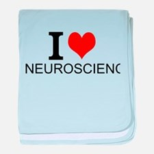 I Love Neuroscience baby blanket