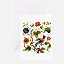 Bird of Paradise Embroidery Greeting Card