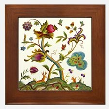 Tree of Life Embroidery Framed Tile
