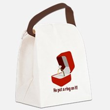 Put Ring On It Canvas Lunch Bag