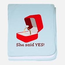 She Said Yes baby blanket