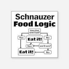 "Schnauzer Food Square Sticker 3"" x 3"""