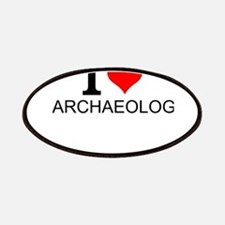 I Love Archaeology Patch