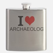 I Love Archaeology Flask