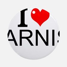 I Love Arnis Round Ornament