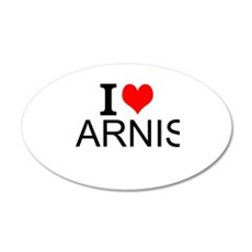 I Love Arnis Wall Decal