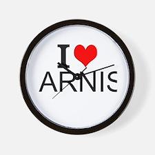 I Love Arnis Wall Clock
