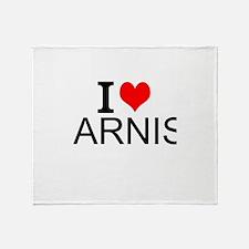 I Love Arnis Throw Blanket