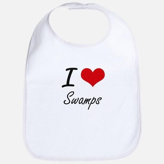 I love Swamps Bib