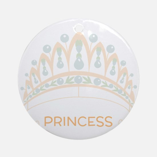 Princess Tiara Round Ornament