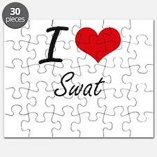 I love Swat Puzzle